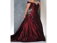 Sonsie genuine burgundy wedding dress UK size 20/22