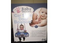 Car door bouncer swing