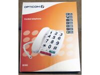 Opticom Big Button telephone speakerphone handsfree Hearing aid compatible