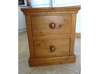 Pinetum Tuscan Solid Pine 2 Drawer Bedside Cabinet (Between Aylsham & Holt)