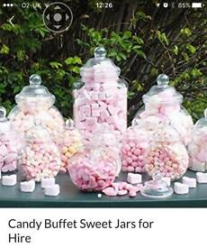 Sweet jar hire from NE30 (jars only)