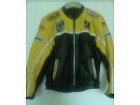LEATHER MOTORCYCLE JACKET SIZE L 40 CHEST