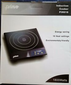NEW in box Prima Induction Cooker Hob PIH018 - 10 heat settings
