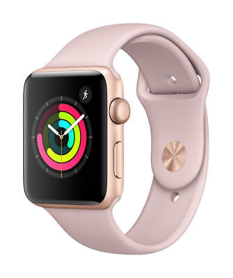 Apple Watch Gen 3 Series 3 42mm Gold Aluminum  Pink Sand Sport Band