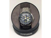Citizen Skyhawk A.T Blue Angels Radio Controlled Watch JY8058-50L. Brand New In Box- Unworn