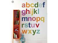 Mamas and papas patternology wall sticker alphabet