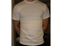 White plain T-Shirte - Fruit of The Loom - 100% cotton - 318 units