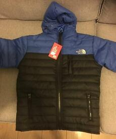 North face coat unworn new 7-8