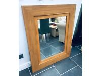 Next Oak Wood Overmantle Mirror