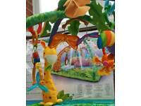Fisher Price Rainforest Melodies & Lights Deluxe Baby Gym Playmat RRP £54.99 (0+ mths)