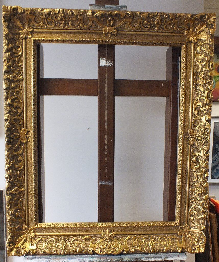 antique wood and plaster gold frame would suit large painting or mirror