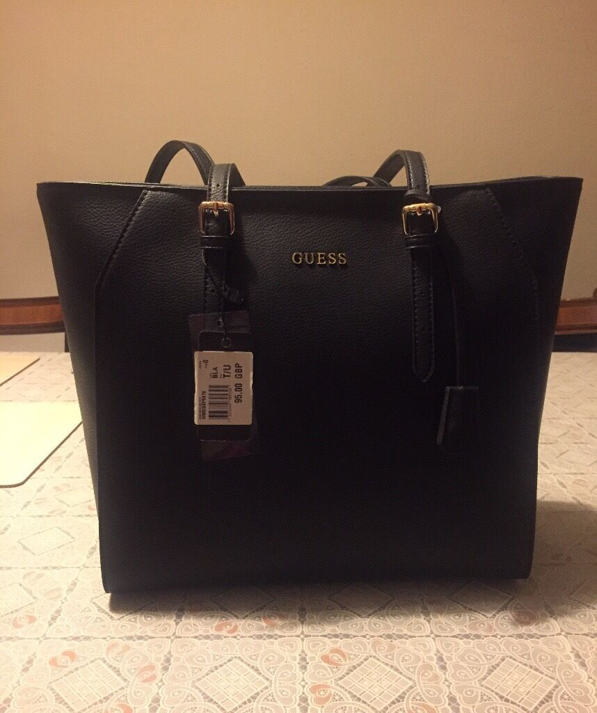 645f91b7b00b BNWT Guess Sissi medium tote bag in black