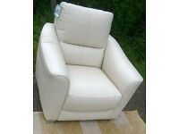 Ex-display Development Cream Leather Arm Chair.