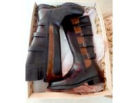 Women's Ravel Black Leather knee high boots size 4