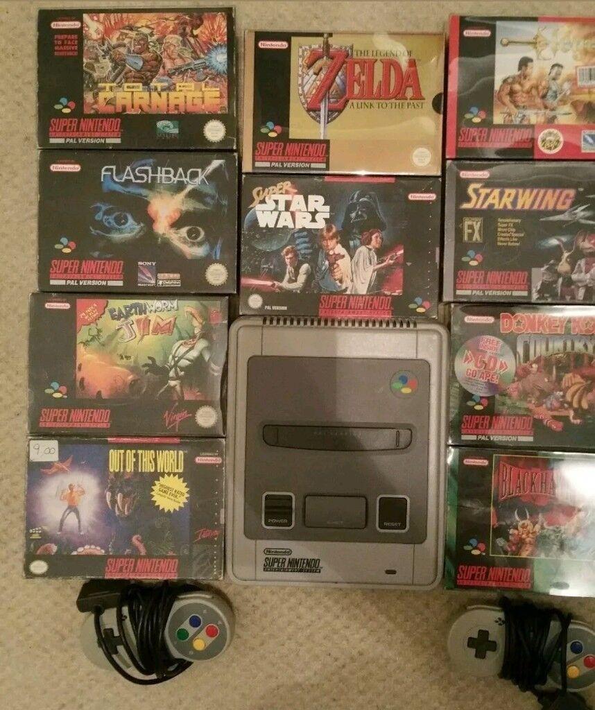Snes console bundle rare games*