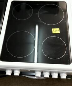 Ex display LOGIK LFC50W16 ceramic white cooker One year guarantee