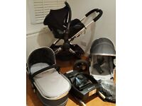 iCandy Peach 3 Truffle pushchair buggy travel system with maxi cosi car seat and isofix base