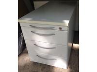 office pedestal white 4 drawers