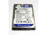 320GB Laptop Hard Disk (Sata) - Western Digital (Blue) - (2.5 inch, Windows, Apple, Mac, Laptop)