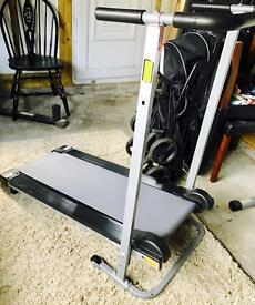 Pro fitness folding non-motorised treadmill