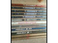 Golf shafts.Diamana Titleist, bi matrix, Titleist phenom, project x, Fairway/ hybrid £10 each