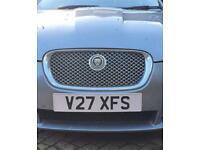 Private number plate V27 XFS JAGUAR XF. S