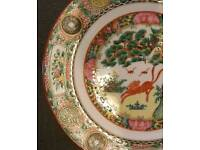 Antique japanese/Chinese famille rose plates
