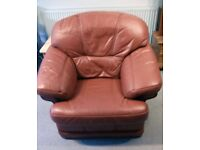 Genuine leather Klaussner tan armchair