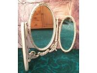 Vintage French Louis Style Triple Mirror