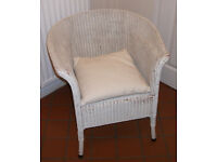 Lloyd Loom Wicker chair and cushion