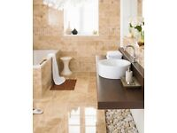 5 Sq Mtrs of Luxurious Cappuccino Natural Marble Polished Tiles Each 30.5cm X 30.5cm 55 Tiles