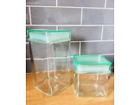 Large and small glass Storage Jars