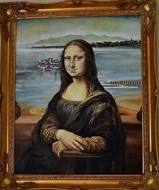 """original oil painting """"Mona Lisa wee day oot"""""""