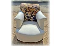 Vintage armchair on castors