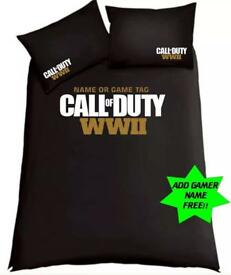 Call Of Duty ; WW2 Double Duvet .....Free Gamertag