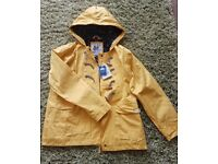 Womens medium Lazy Jacks showerproof coat, yellow. Brand new with tags.