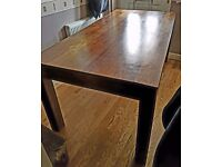 Beautiful large solid wood dining table. £50 ono