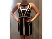 Classy Black and Cream Mini Dress