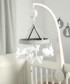 As new, Mamas & Papas Cot Musical Mobile - Welcome to the World rrp £39