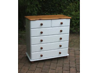 Shabby Chic - Pine - Chest of Drawers - 2 Over