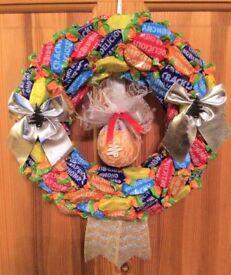 Christmas Wreath = Terrys Chocolate Orange Wreath