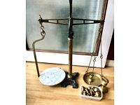 Brass and wrought iron scales
