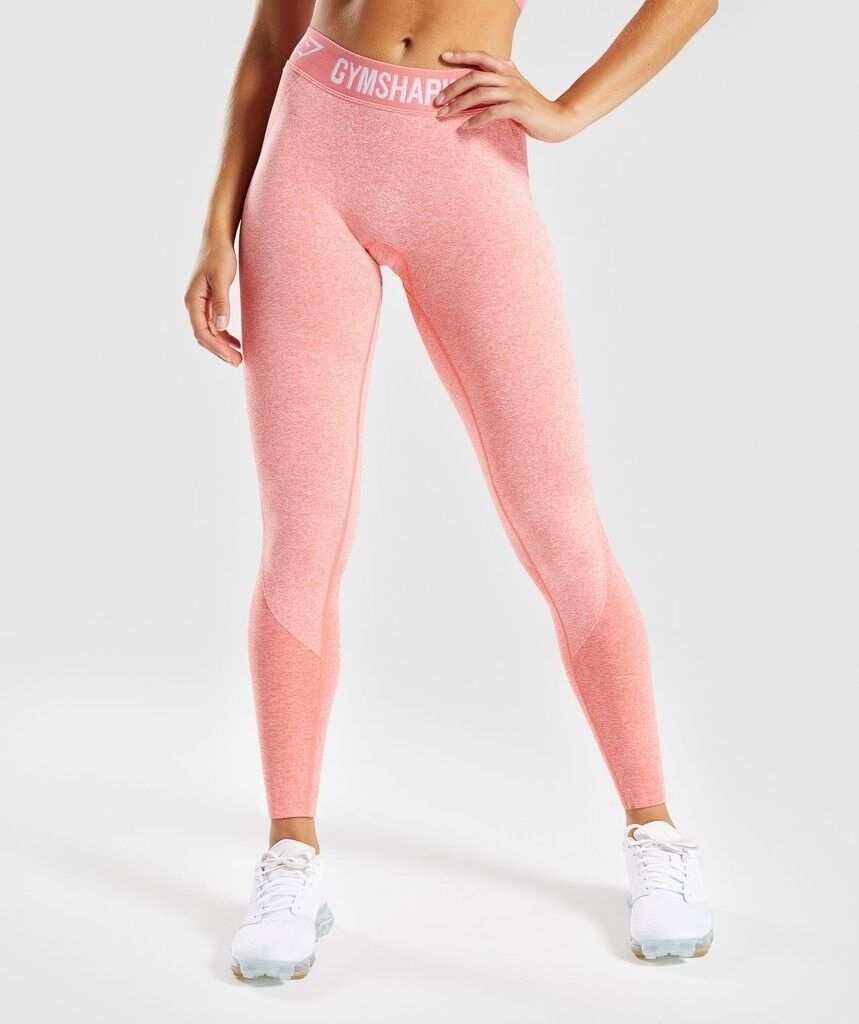 cd1916db3b288 GYMSHARK FLEX LEGGINGS SIZE SMALL PEACH CORAL NEW WITH TAGS AND BAG SIZE  SMALL