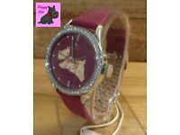 Radley RY2085 Ladies 'The Great Outdoors' Berry Leather Strap Watch – NEW – RRP: £80