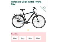 Brand new Hendricks CR 660 2016 Hybrid Bike