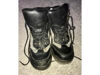 Steel toe cap work boots - size 9