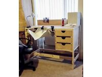 Jewellery Desk Work Bench Sturdy to proper specifications, Wood, Comes Apart