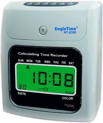 Nt-8300 Lcd Electronic Calculating Time Recorder Clock Employee Easy Payroll