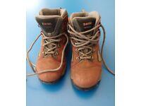 Hi Tec walking boots UK 4 EU 37 dark pink and grey