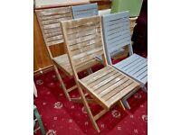 x4 Garden wooden chairs